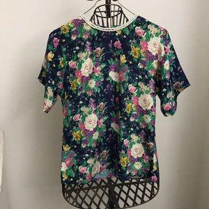 Vintage classy floral dress shirt